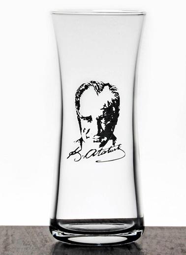 Joy Glass Atatürk Resimli 6 Lı Rakı Bardağı Renkli